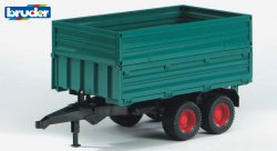 Tipping trailer with removable top