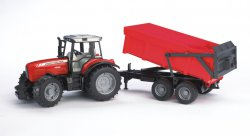 Massey Ferguson 7480 with tipping trailer