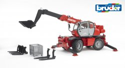 Manitou Telescopic forklift MRT 2150 with accessories