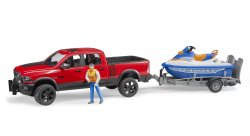 RAM 2500 Power Wagon with trailer and Personal Water Craft and driver