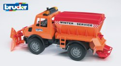MB Unimog winter service with snow plough