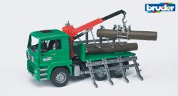 MAN TGA Timber truck with loading crane and 3 trunks