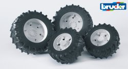 Accessories: Twin tyres w. white rims, premium-pro