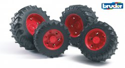 Accessories: Twin tyres with red rims, premium-pro