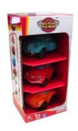 Motortown Assorted Cars in a 3-pack