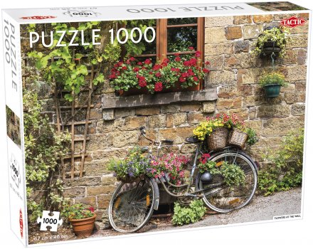 Flowers at the wall puzzle 1000 pcs