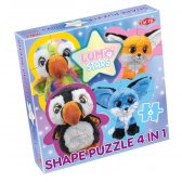 Lumo Stars 4 i 1 shape puzzle Puffins & Foxes