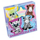 Lumo Stars 4-in-1 Shape Puzzle, Puppies & Horses
