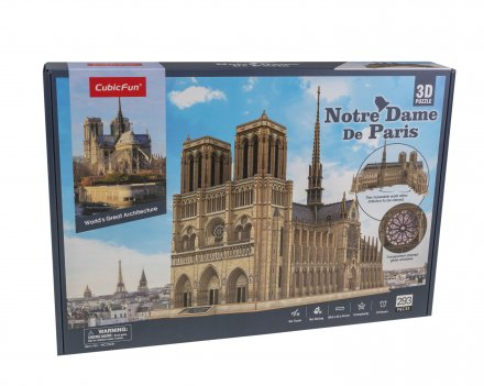 3D Puzzle Notre Dame de Paris Open and See