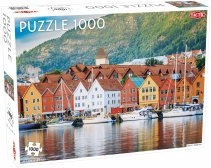 Puzzel Around the World, Northern Stars: Bergen Harbour - 1000 stukjes