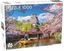 Puzzel Landscape: Cherry Blossoms in Himeji, Japan - 1000 pieces