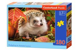 Hedgehog in autumn leaves - 180 stukjes