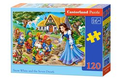 Snow white and the 7 dwarfs - 120 stukjes