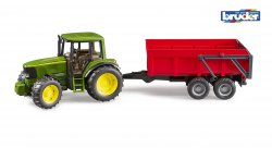 John Deere 6920 with tipping trailer (red)