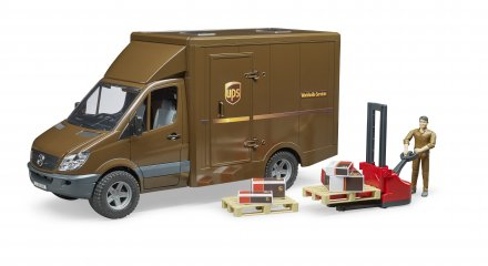 MB Sprinter UPS with driver and accessories