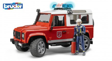 Land Rover Defender St.Wagon fire department vehicle with fireman