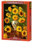 Sunflowers in a Peacock Vase - 1000 stukjes