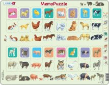 Larsen MemoPuzzle Mother and Baby animal Duo (Maxi)