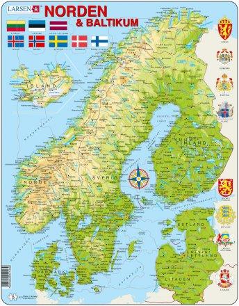 norden karta Larsen Norden och Baltikum Karta (Maxi)   TACTIC norden karta