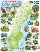 Larsen Ruotsin kartta ja eläimiä (Maxi) 71 palaa